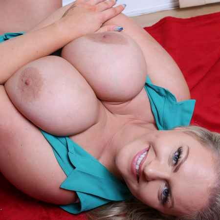 urvy British Goddess Charley Green shows her juicy big tits at Busty Brits